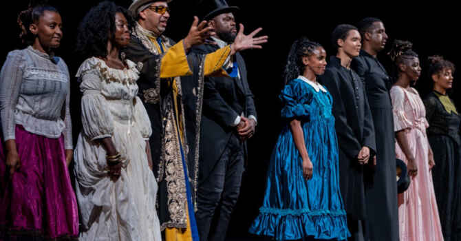 Black actors on stage